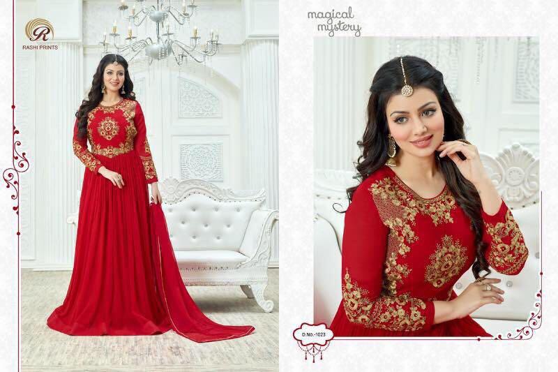 Rashi Prints Presents Massakali Georgette Anarkali Pattern Suits Rate: 1845/-