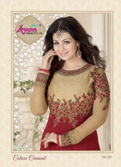 Avon Presents Anarkali Pattern Colour Carnival Vol 3. Rate 2195/-