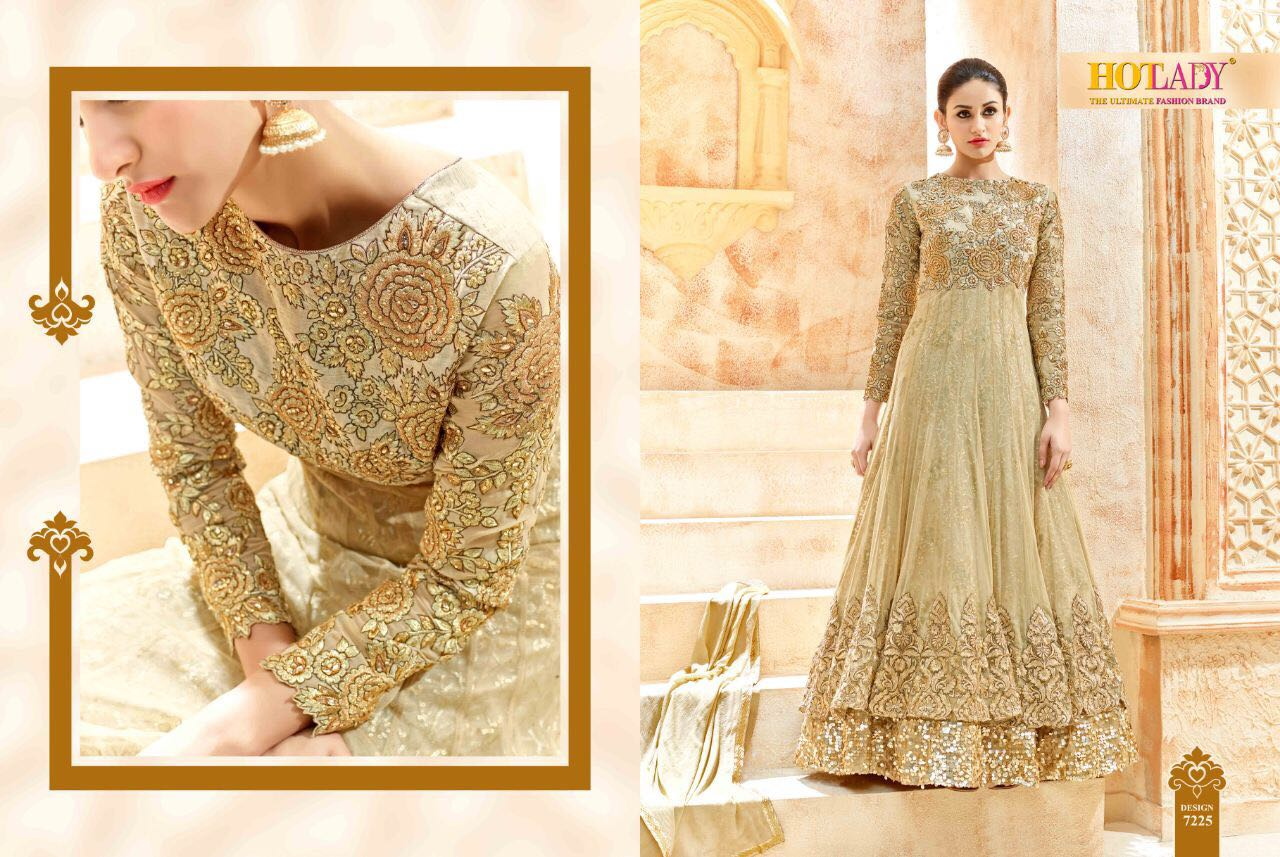 Hotlady Presents Heavy Embroidery Designer Suits 3495/-