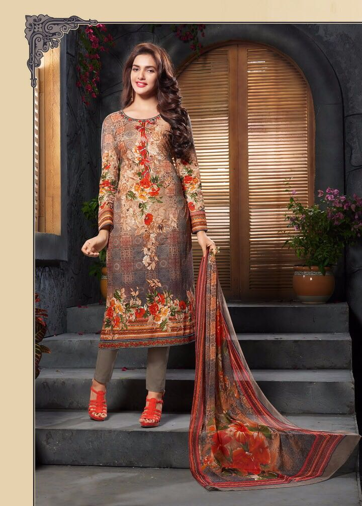 Vidharti Presents Glamours Pure Cotton With Print And Embroidery Rate 645/-