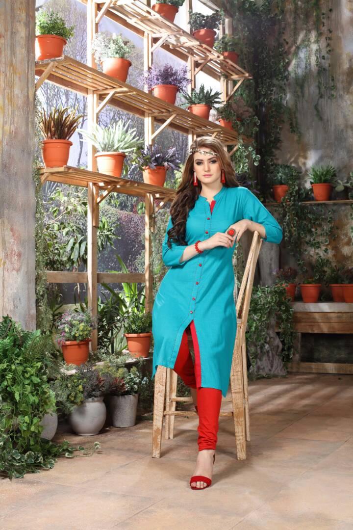 Rishika Alia Presented Rayon Designer Printed Kurties Rate 410/-