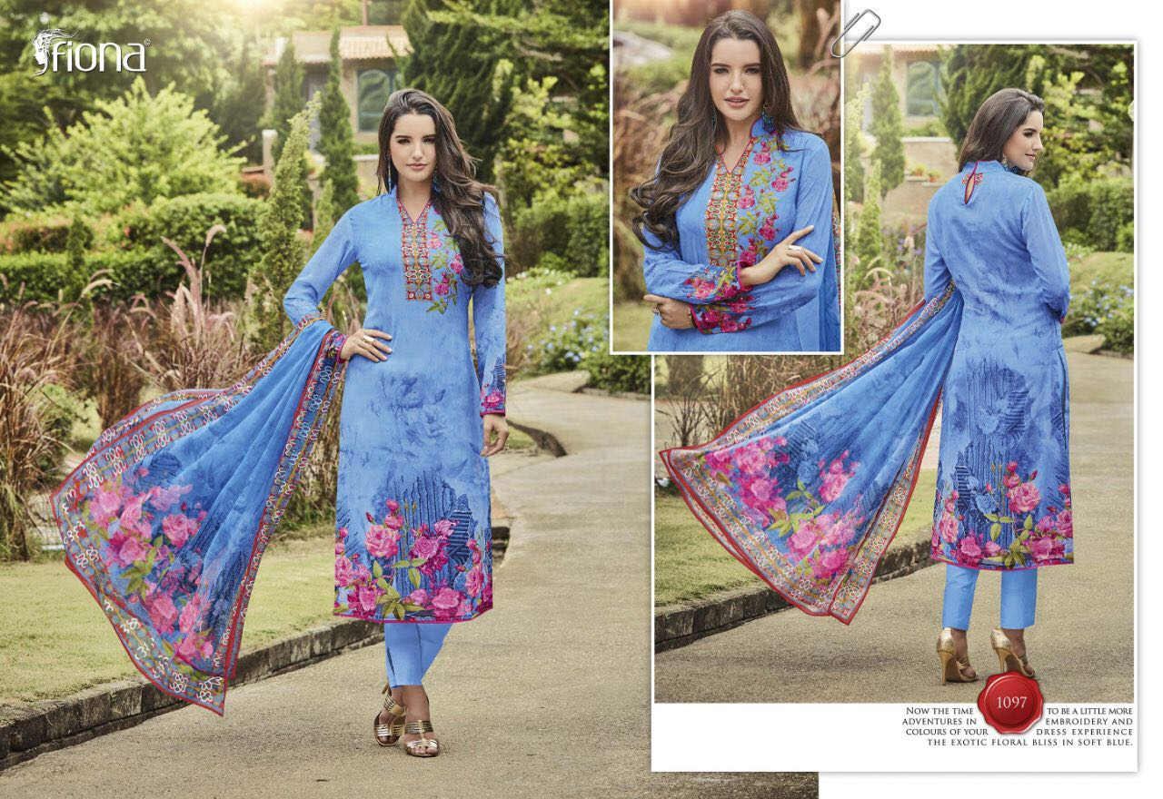 Mahezabeen Vol - 5 By Fiona Fashion Digital Printed Rate: 999/-