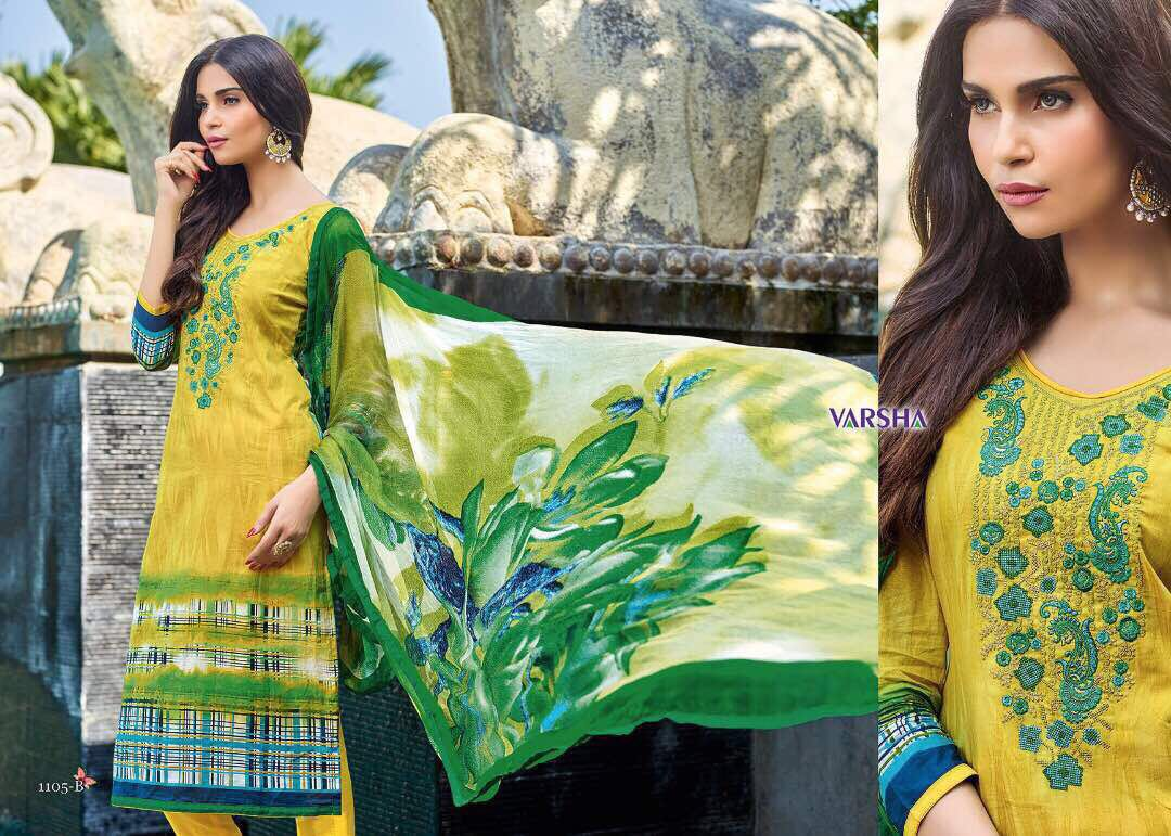 Saanjh By Varshaa Fashions Cotton Lawn Rate - 1485/-
