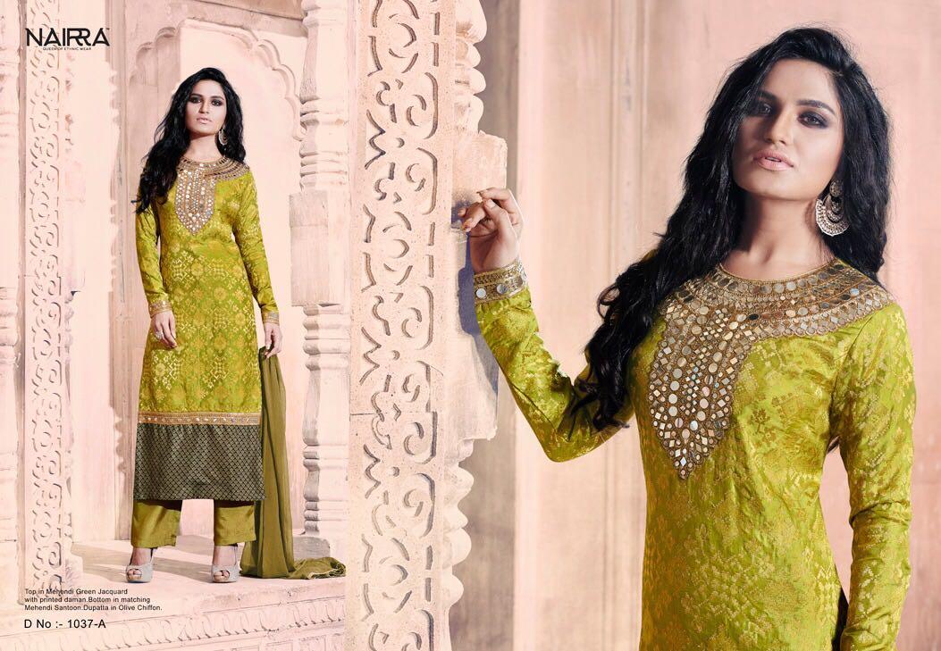 Nakkashi Nairra  Essenita Tussar Silk Georgette Jacquard Fabrics Rate - 1583/-