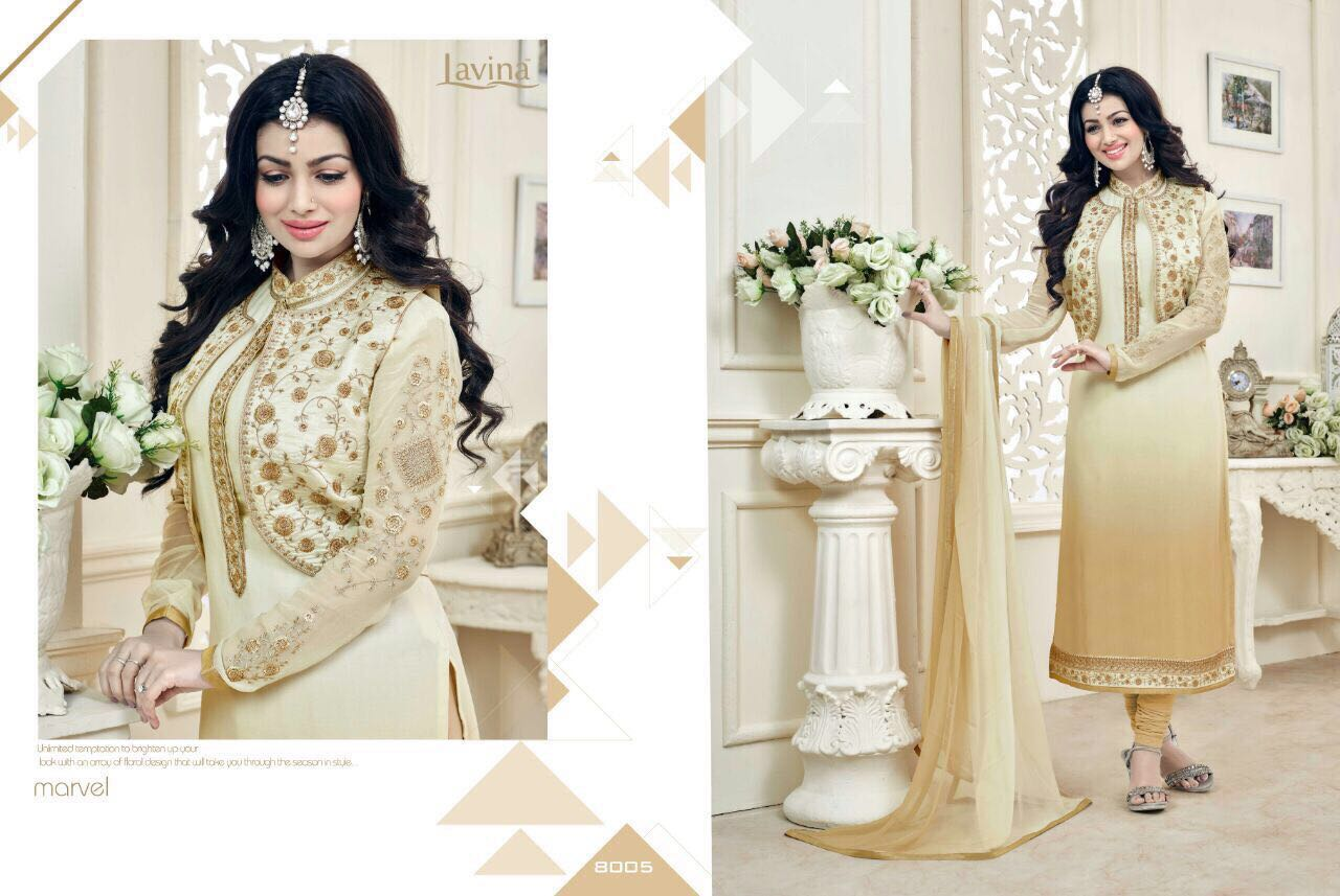 Lavina Ruby Georgett Embroidered Designer Wear Rate 1495/-