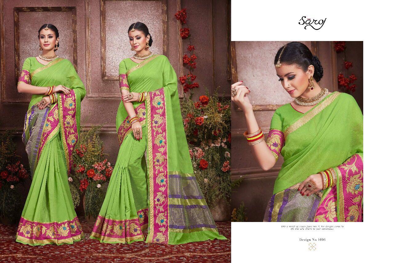 Saroj Fashion Presents Anushka Pure Cotton Rate 950/-
