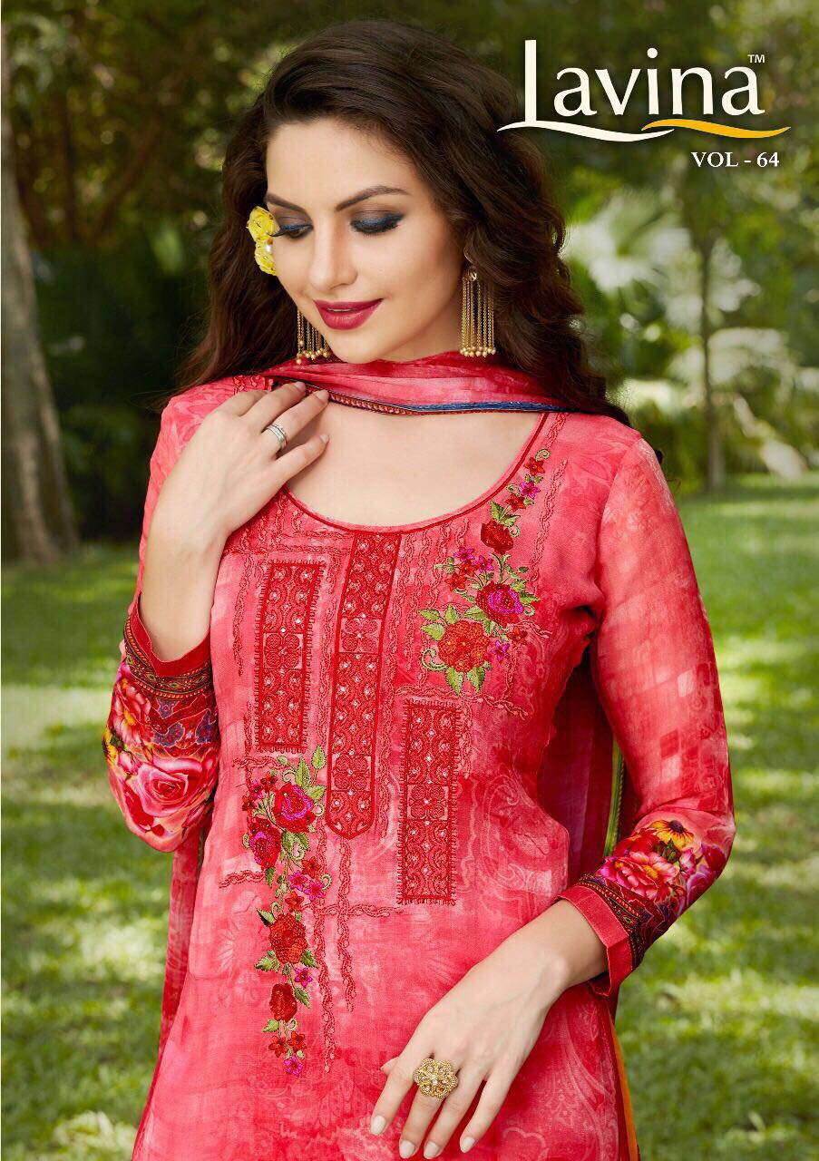Lavina Vol 64 Present Pure Georgett Digital Print With Embroidery Rate 1595/-