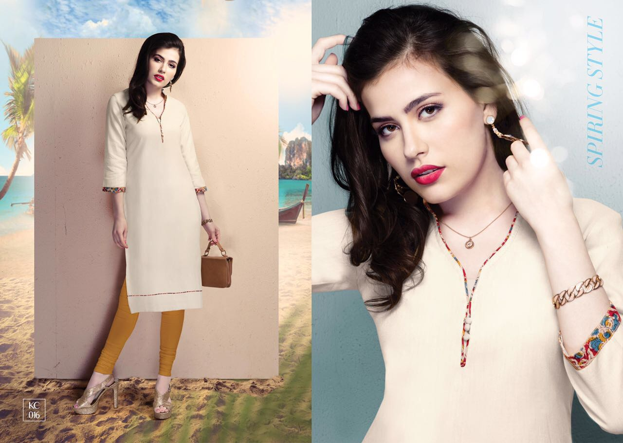 Kaycee Presenting New Brand In New Style Kurtis Rate 335/-