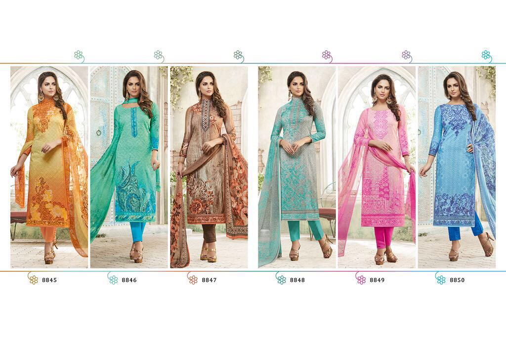 Jinaam Somiya Presents Cotton Satin Digital Print Rate 1695/