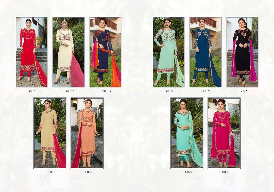 Sanskriti Sonakshi Presents Georgette Embroidery Rate 1199/-