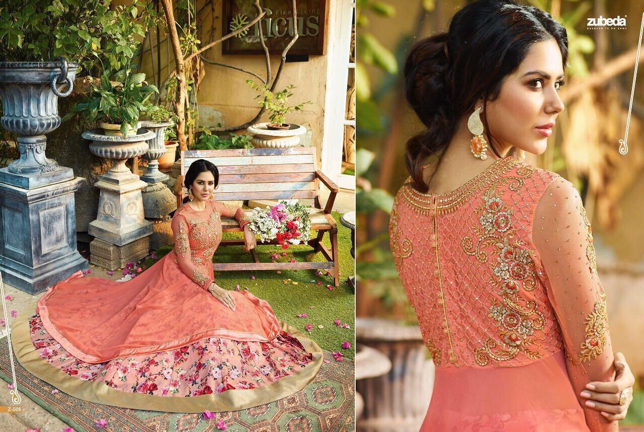 Zubeda Princess Presents Georgette Designer Suit Rate 2195/-