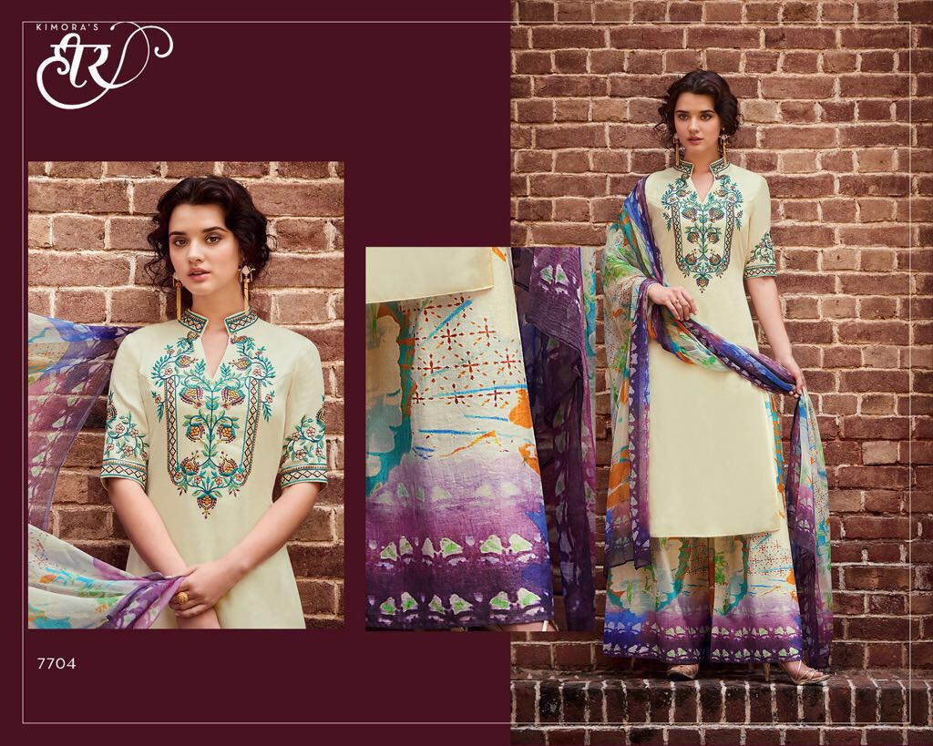 Heer 28 Presents Pure Cotton Digital Print  Rate 1425/-