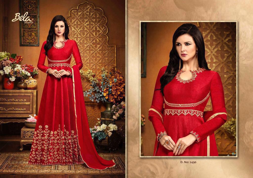 Bela Presents Georgette Embroidery Hits Singles Rate 2030/-