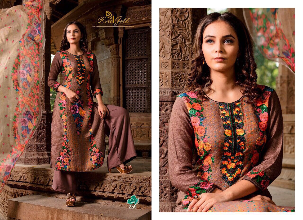 R Vee Gold Presents Winter Collection Singles Rate 1400/-