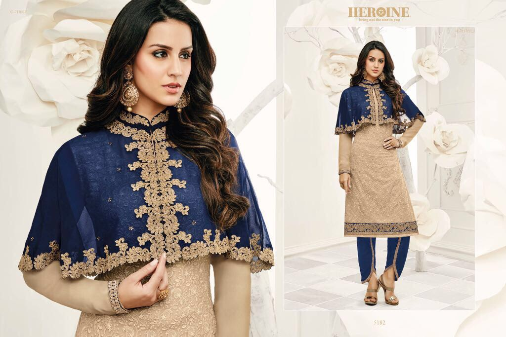 Jinaam Opal Presents Georgette With Embroidery Chiffon Work Wholesale Price - 1800/-