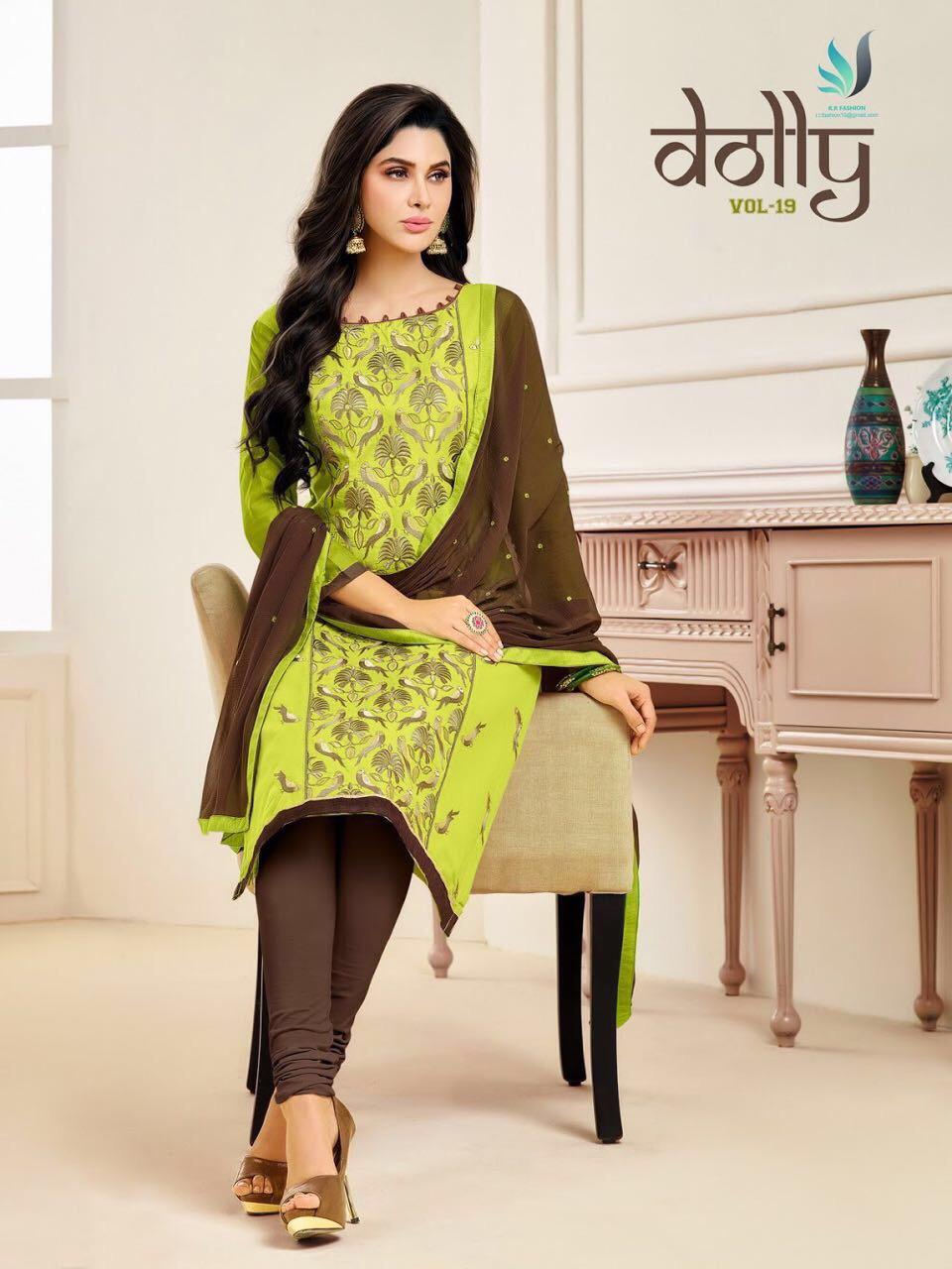 Rr Fashion Presents Dolly Vol 19 Cotton Dupatta Work Wholesale Price - 531/-