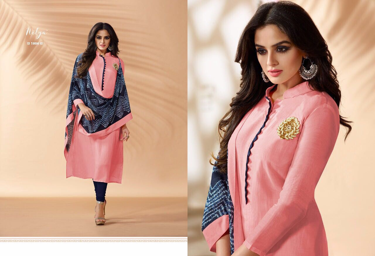 Lt Nitya Presents Vol 18 Maslin Silk Digital Print Wholesale Price - 935/-