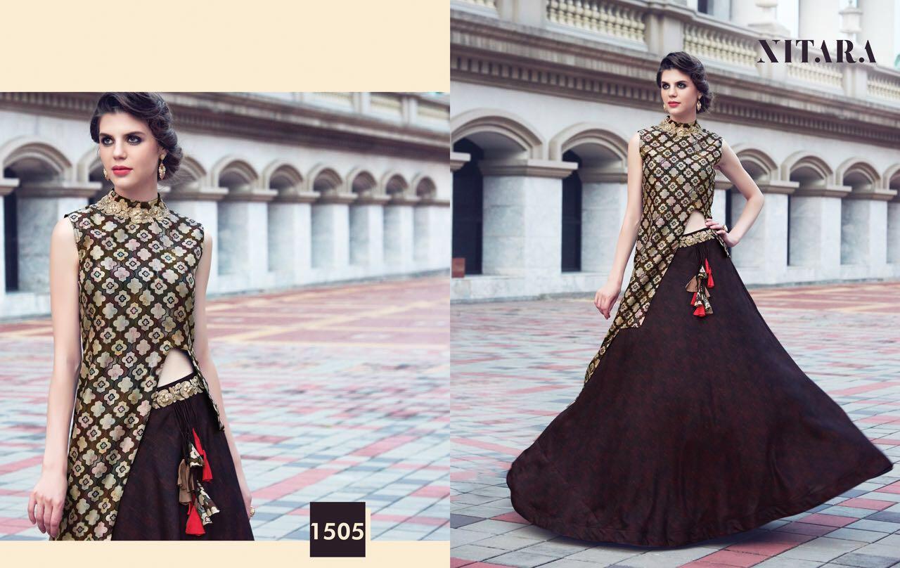 Nilaya Presents Nitara Layered Top Emblished With Hand Work Silk Digital Print Wholesale Price - 2095/-