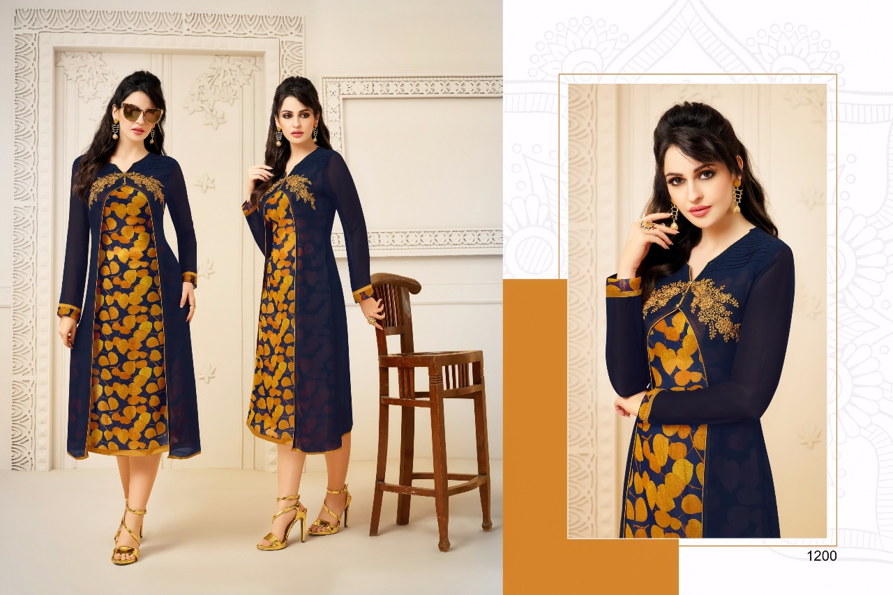 Zisa Charmy Georgette With Embroidery Kurtis Vol 2 Rate - 640/-
