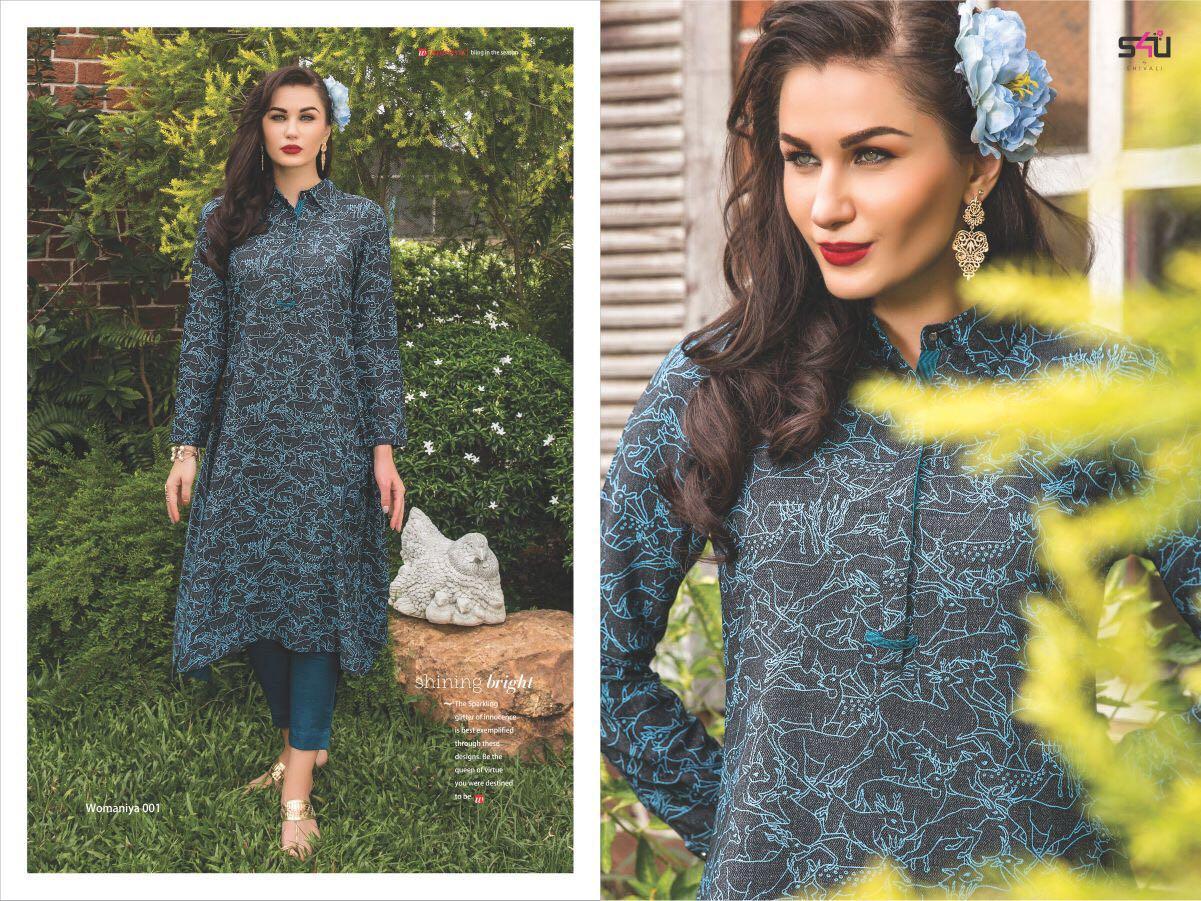 S4u Presents Womaniya Vol 6 Kurta With Pallazo Sets Wholesale Price - 915/-
