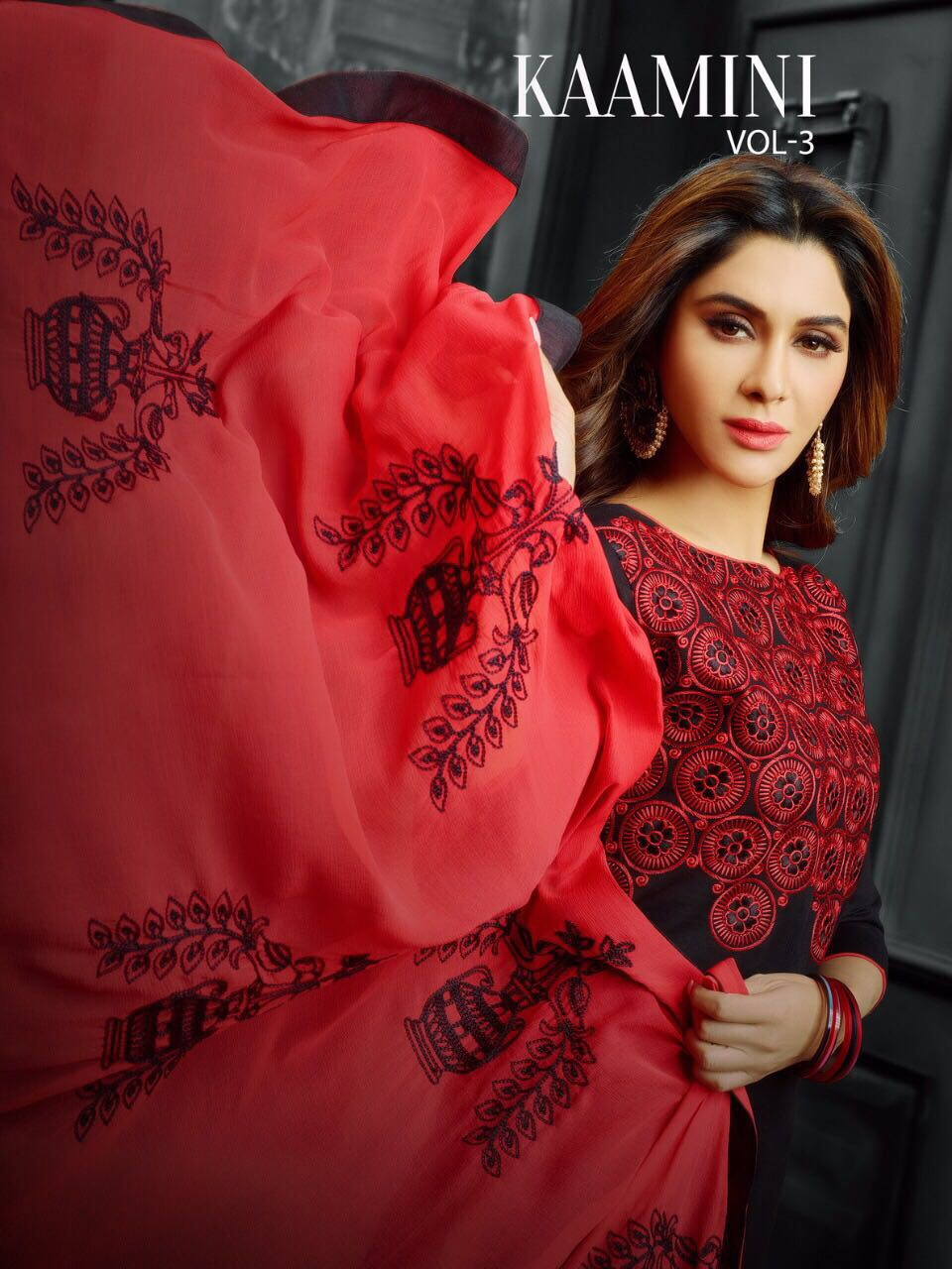 Kayce Trendz Presents Kaamini Vol 3 Cotton Naznin With Chain Work With Lace Wholesale Price - 599/-
