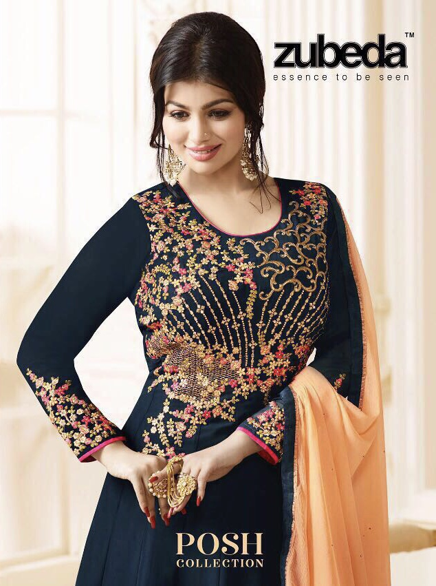 Zubeda Presents Posh Collection Hits Georgette Kali Wholesale Price - 2195/-