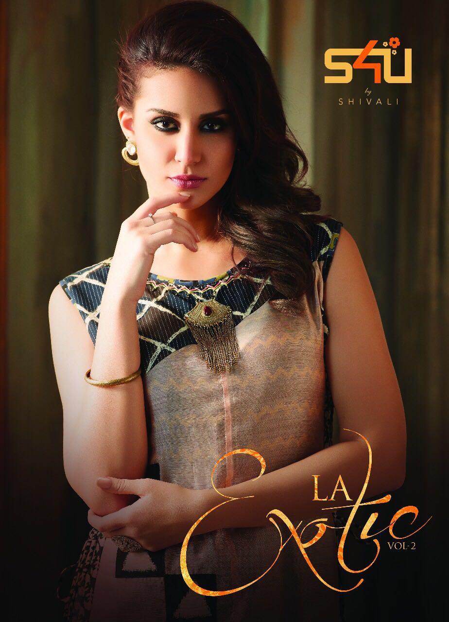 S4u Presents La Exotic Silk Kurtis Wholesale Price - 1290/-