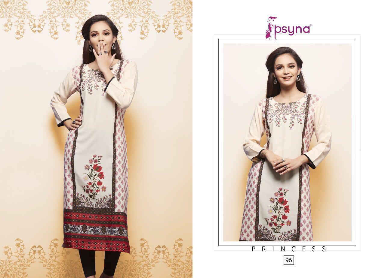Psyna Presents Princess Vol 9 Rayon Hit Design Kurtis Wholesale Price - 396/-