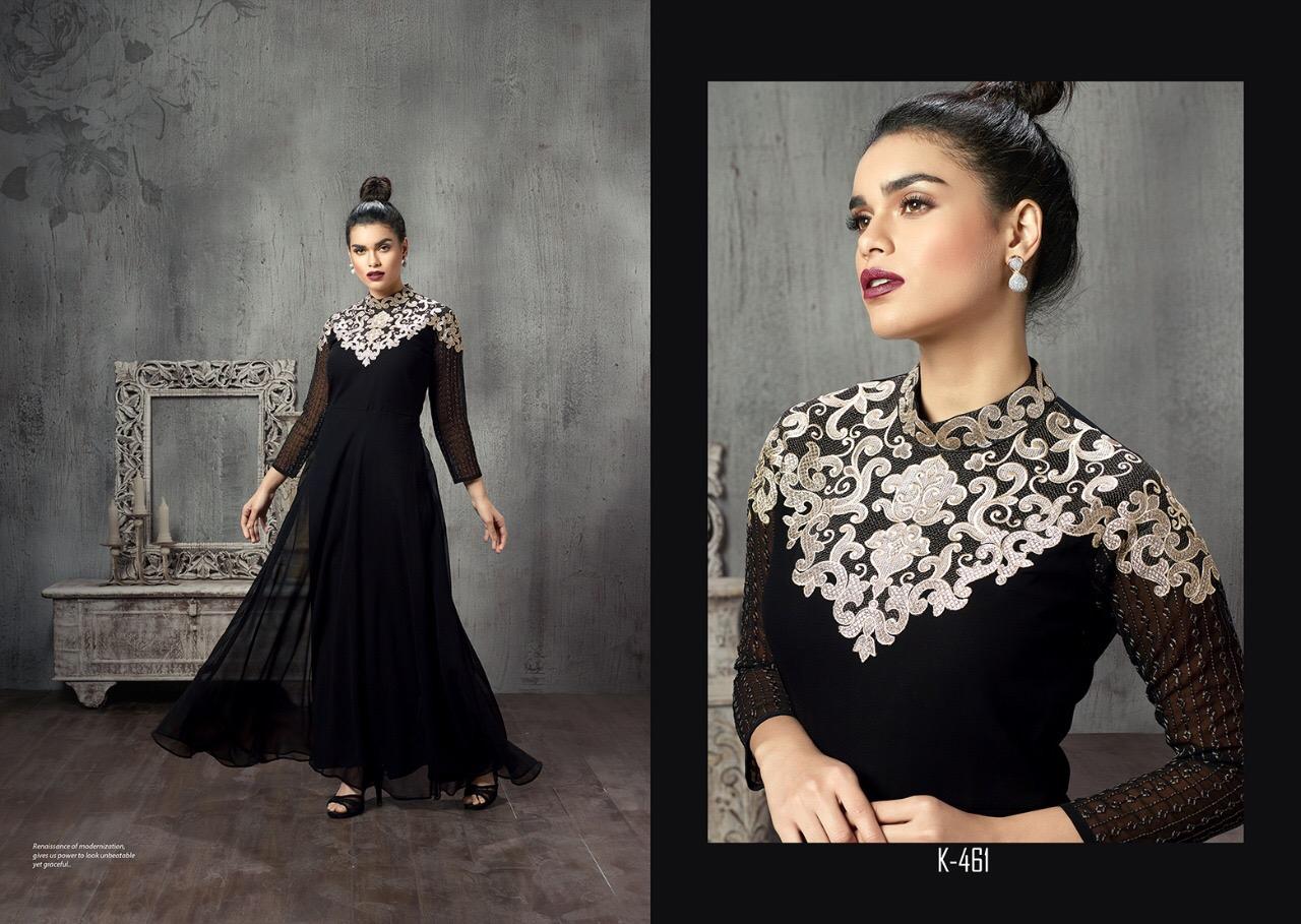 Eternal Presents Black Stage Vol 2 Georgette With Silk Slub Gown Pattern Wholesale Price - 995/-