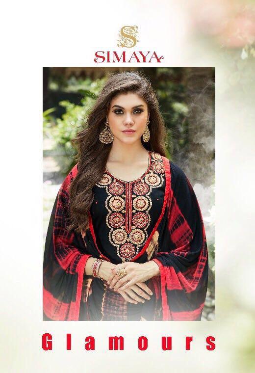Simaya Presents Fashion Glamour Pure Cotton Satin Hand Work Wholesale Price - 795/-