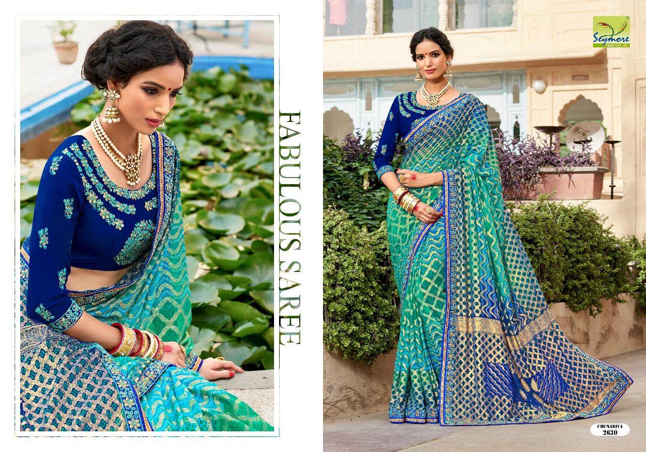 Chuneriya Presents Vol 4 Georgette Designer Printed Sarees With Heavy Border Wholesale Price - 1155/-