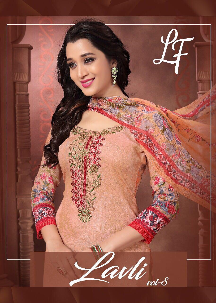 Lavli Fashion Presents Vol 8 Glaze Cotton Prints Plus Neck Embroidery Wholesale Price - 795/-