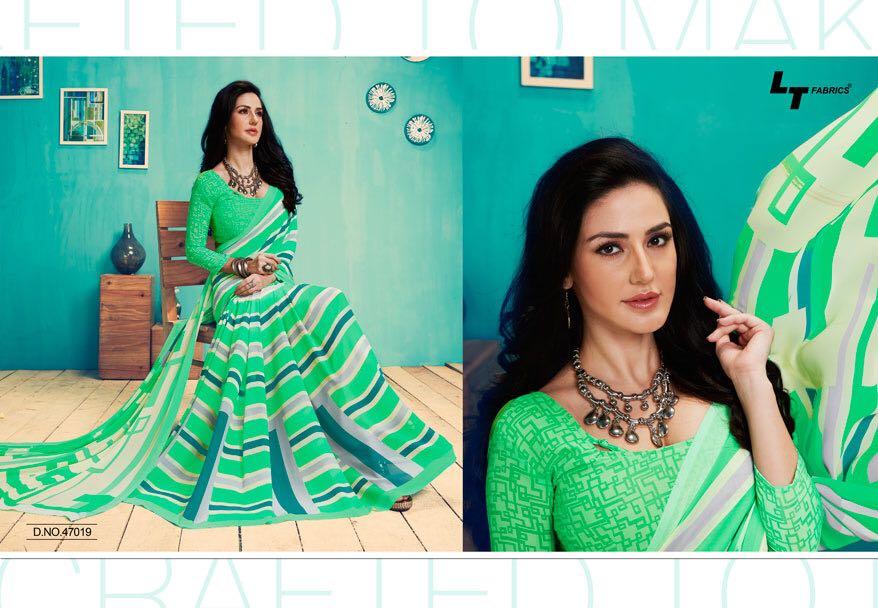 Lt Fashion Presents Zara Vol 22 Georgette Printed Sarees Wholesale Price - 310/-