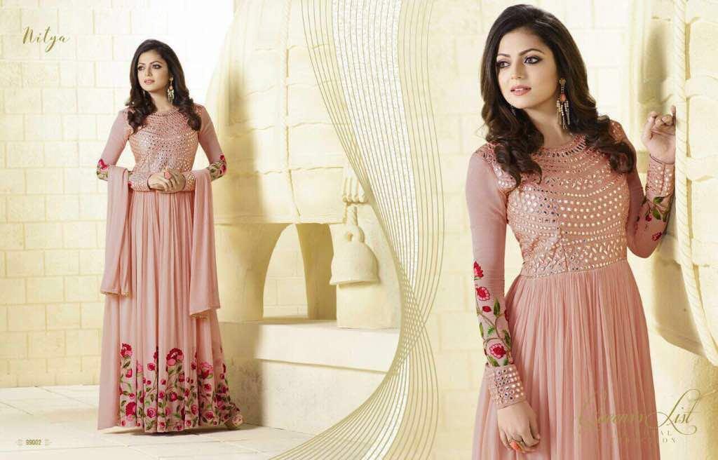 Lt Nitya Presents Georgette Embroidery Glace Design Singles Price - 2850/-