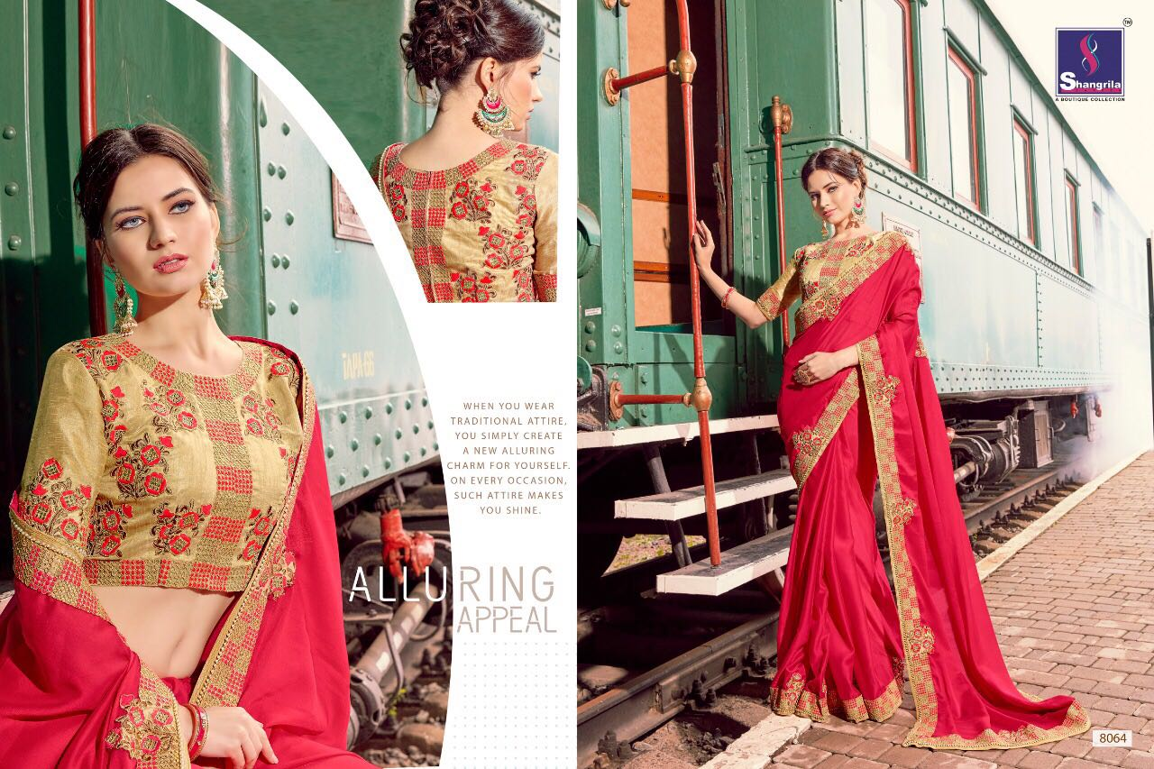 Shangrila Presents Novotel Saree With Pure Heavy Embroidery Border And Enriched Designer Blouse Wholesale Price - 1330/-