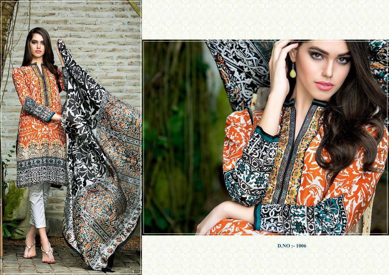 Kvc Presents Lorenza Pure Cotton Print With  Embroidery Work Wholesale Price - 520/-