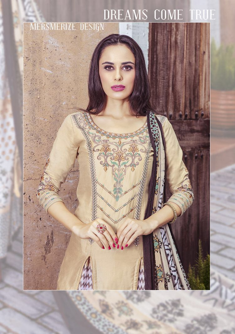Sadaa Presents Katha Glace Glace With Embroidery And Sleeves Work Wholesale Price - 699/-