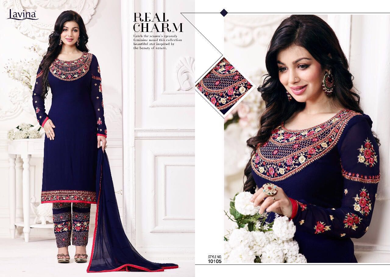 Lavina Presents Vol 10 Georgette With Embroidery Wholesale Price - 1195