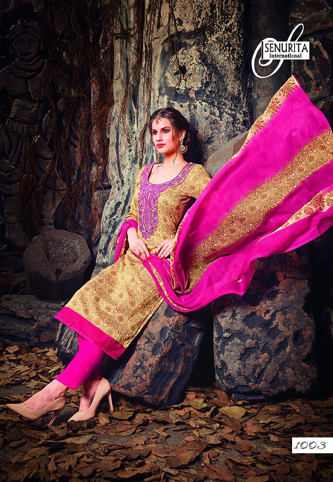 Senurita International Presents Juliet Pure Cotton With Self Embroidery Wholesale Price - 575