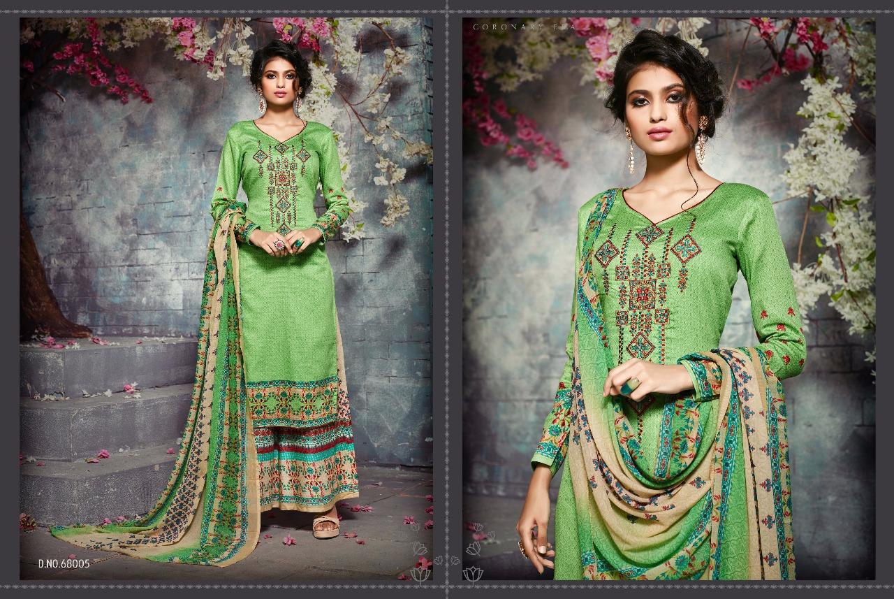 Sargam Shaziya Print Embroidery Zam Silk Wholesale