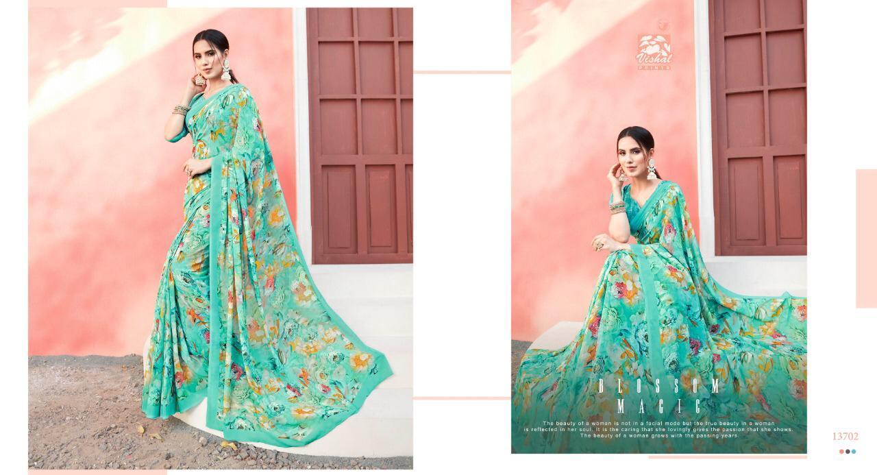 Vishal Melanie Vol 3 Designer Gorgette Sarees Wholesale