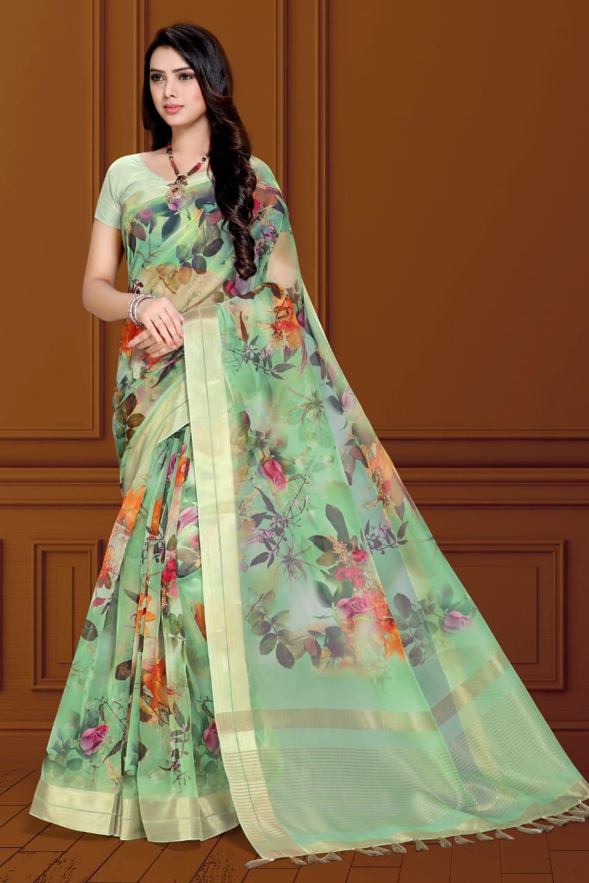 Maniyar Sarees Designer Heavy Embroidery Saree Wholesale