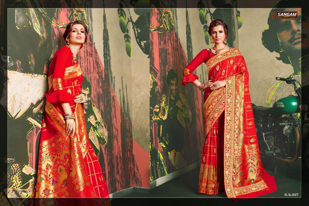 Sangam Kaushalya Designer Silk Saree Wholsale