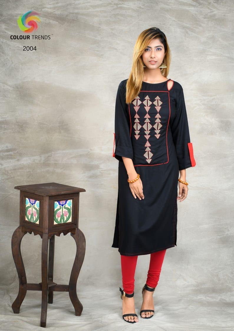 Colour Trendz Parara Vol 2 Designer Rayon Kurtis Wholesale