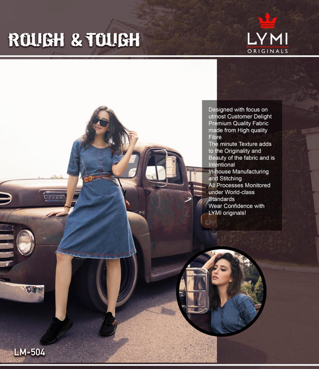 Lymi Rough And Tough Designer Denim Tunics Wholesale