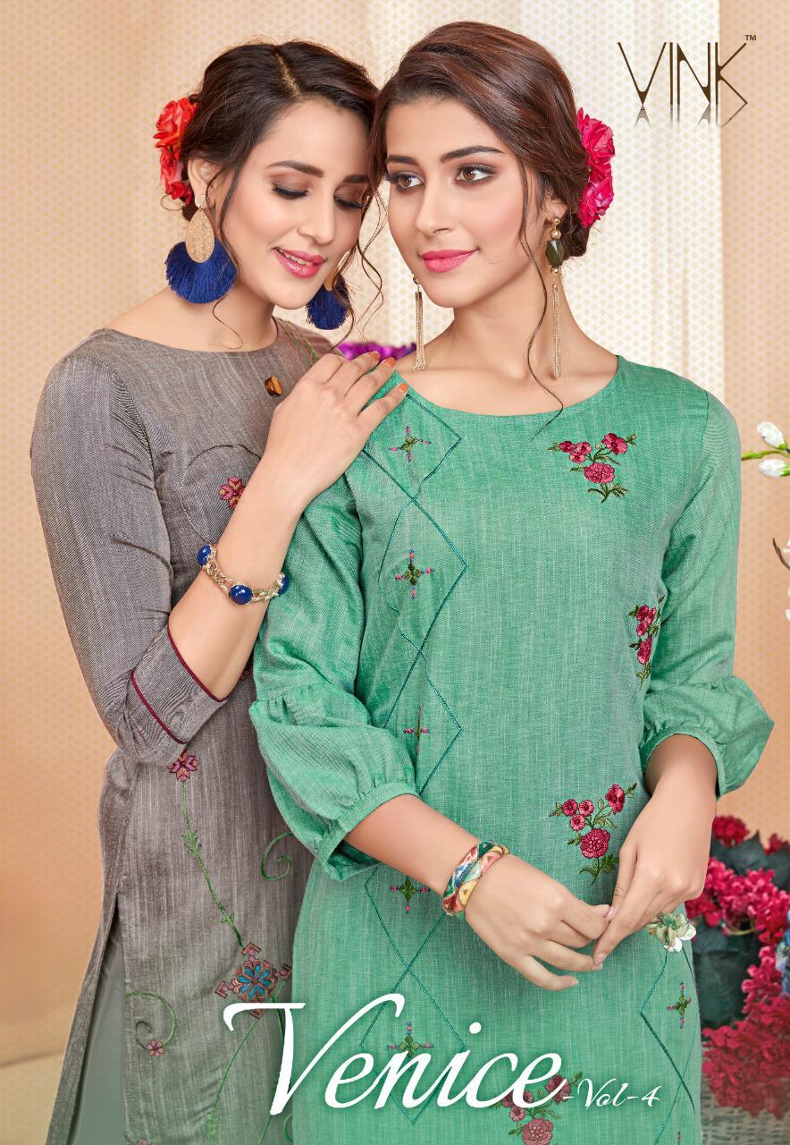 Vink Venice 4 Designer Partywear Kurti Best Wholesale Rate
