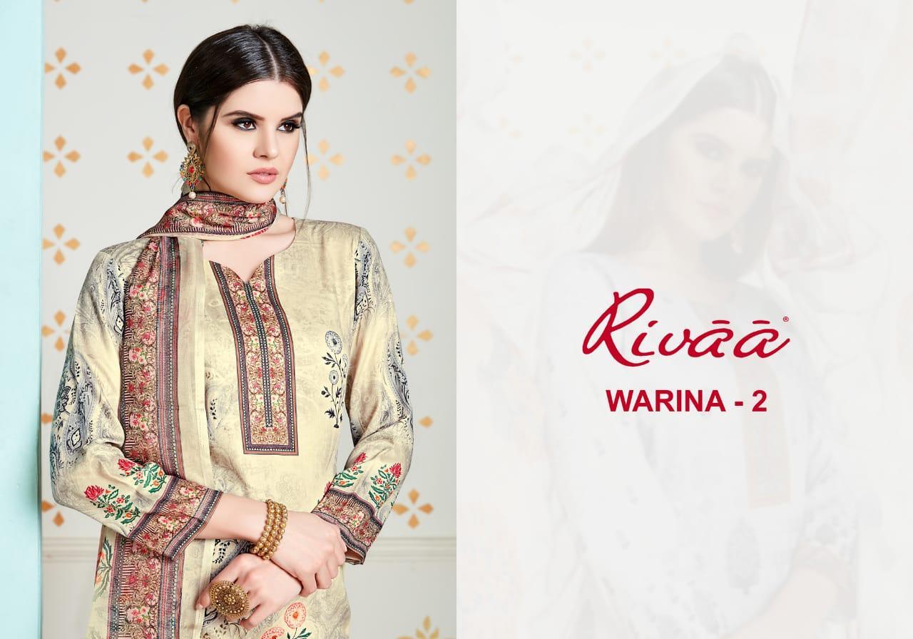 Rivaa Export Warina  Jam Silk Digital Print Suits Wholesale