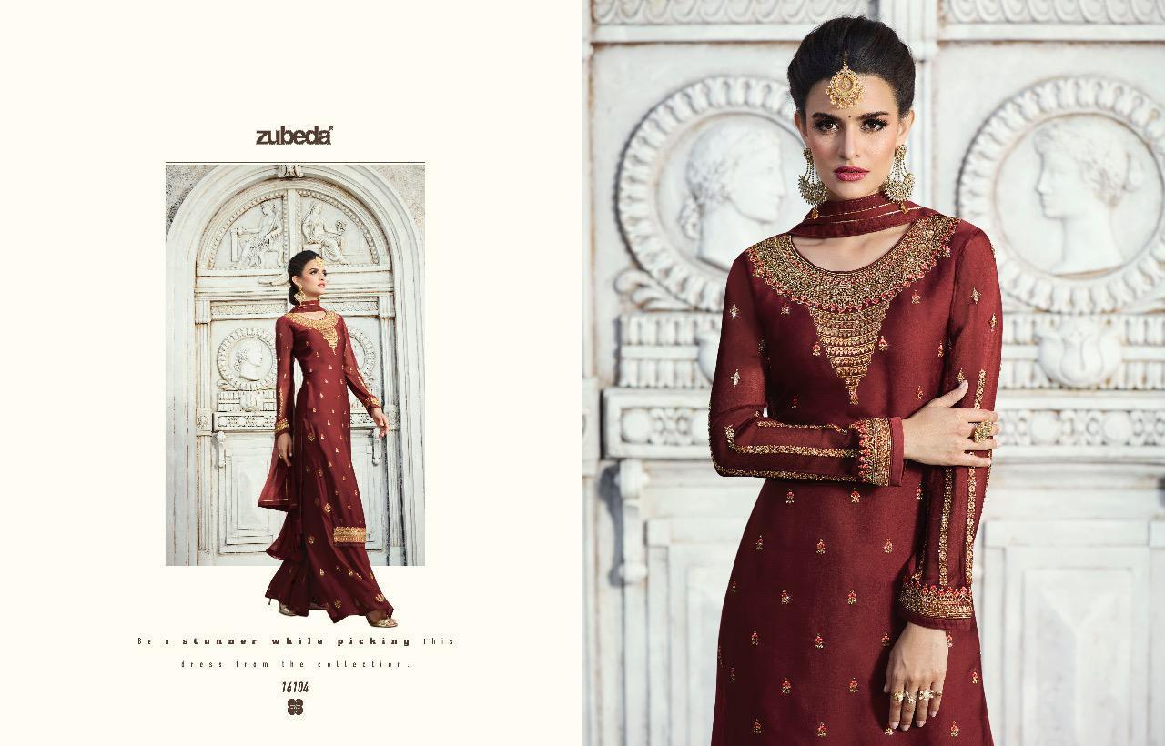 Zubeda Yashasvi Heavy Embrodery Desinger Suits Wholsale
