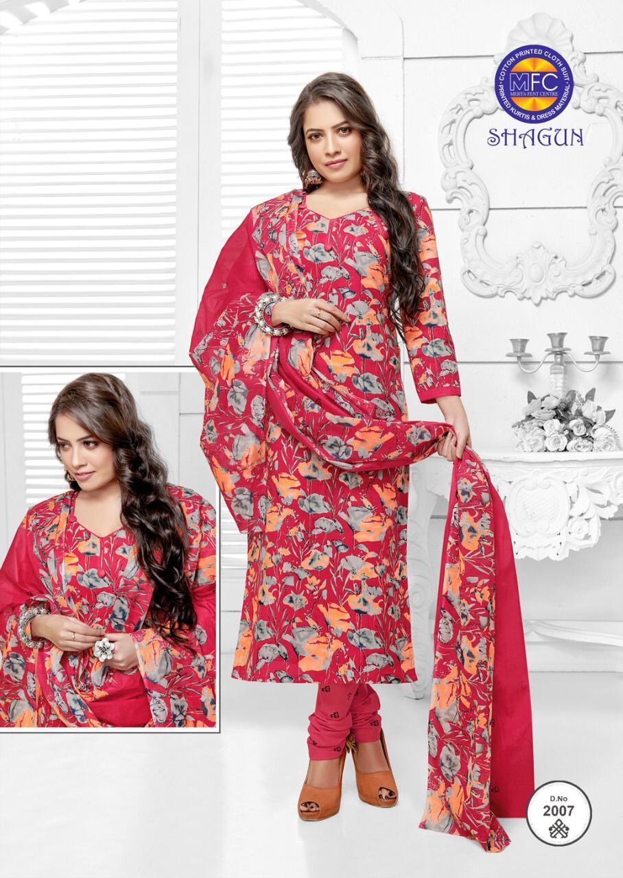 Mfc Shagun Soft Cambric Printed Cotton Desinger Suits Wholsa