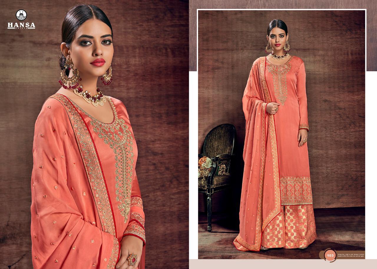 Hansa Husna Libas Vol1 Wedding  Designer Sharara Wholsale